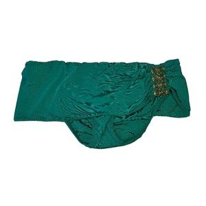 Trina Turk green skirted bikini bottom 4
